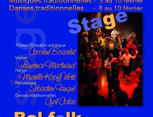 8, 9 10 février trois jours de stage Folk et Danses du Poitou